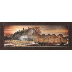 Sunset On The Farm by Lori Deiter Framed Painting Print by Art Effects