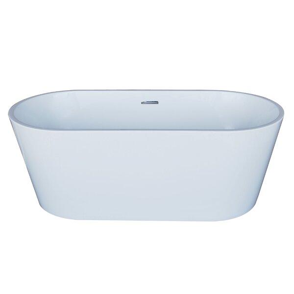 Elsa 66.88 x 31.5 Oval Acrylic Freestanding Bathtub by Spa Escapes