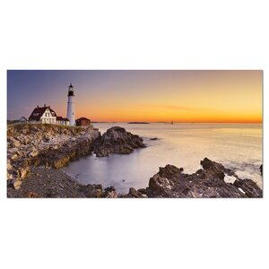 Portland Head Lighthouse Maine Photographic Print on Wrapped Canvas by Design Art