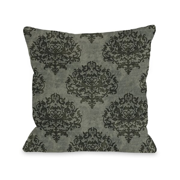 Haunted Filigree Throw Pillow by One Bella Casa