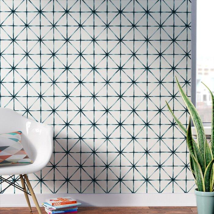 Folden Modern 16 5 L X 20 5 W Geometric Peel And Stick Wallpaper Roll