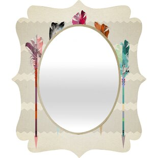 East Urban Home Feathered Arrows Quatrefoil Accent Mirror