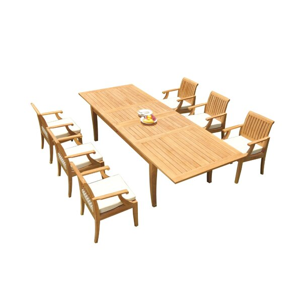 Malta 7 Piece Teak Dining Set by Rosecliff Heights