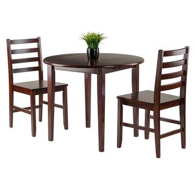Kendall 3 Piece Drop Leaf Wood Dining Set
