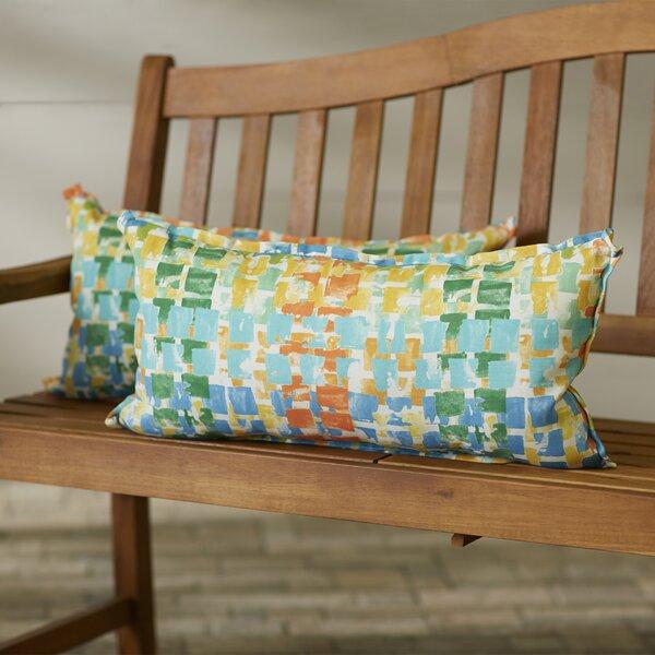 Momea Indoor/Outdoor Lumbar Pillow (Set of 2) by Bungalow Rose
