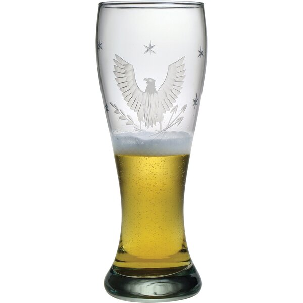 Eagle Hand-Cut 23 Oz. Oversized Pilsner Glass (Set of 4) by Susquehanna Glass