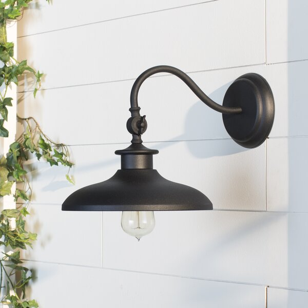 Tennyson 1-Light Outdoor Barn Light by Beachcrest Home