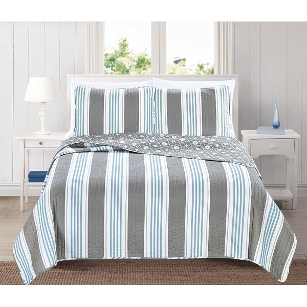 St. Croix Reversible Quilt Set by Home Fashion Designs