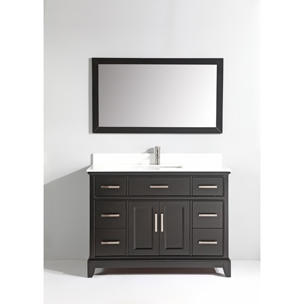 Junie Stone 48 Single Bathroom Vanity with Mirror by Gracie Oaks