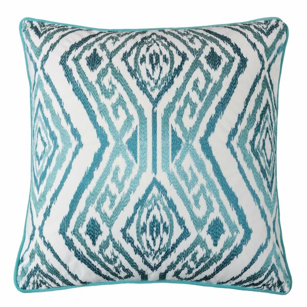 Gagliano Embroidery Velvet Throw Pillow by Wrought Studio