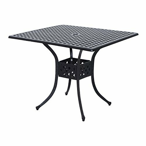 Malia Outdoor Cast Aluminum Dining Table by Charlton Home