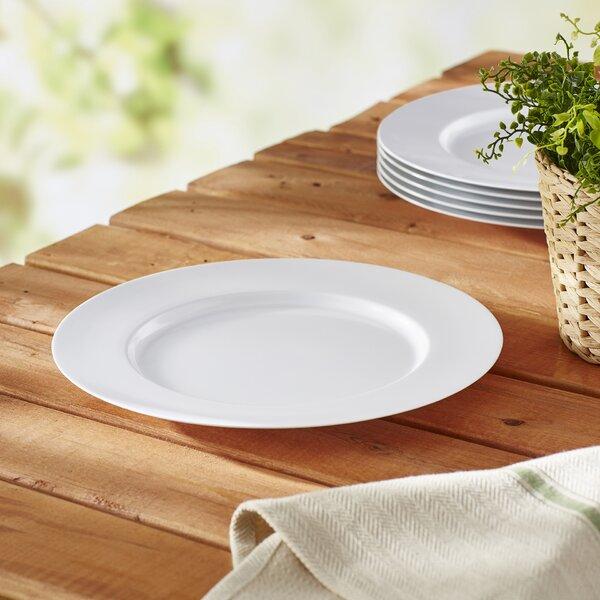 Calypso Basics Melamine Dinner Plate in White (Set of 6) by Reston Lloyd