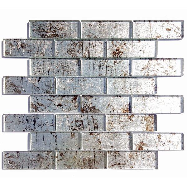 Folia Glass Subway Tile in Silver Maple by Solistone