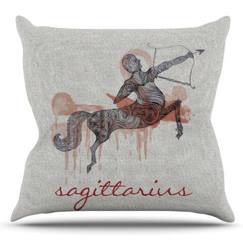Sagittarius by Belinda Gillies Outdoor Throw Pillow by East Urban Home