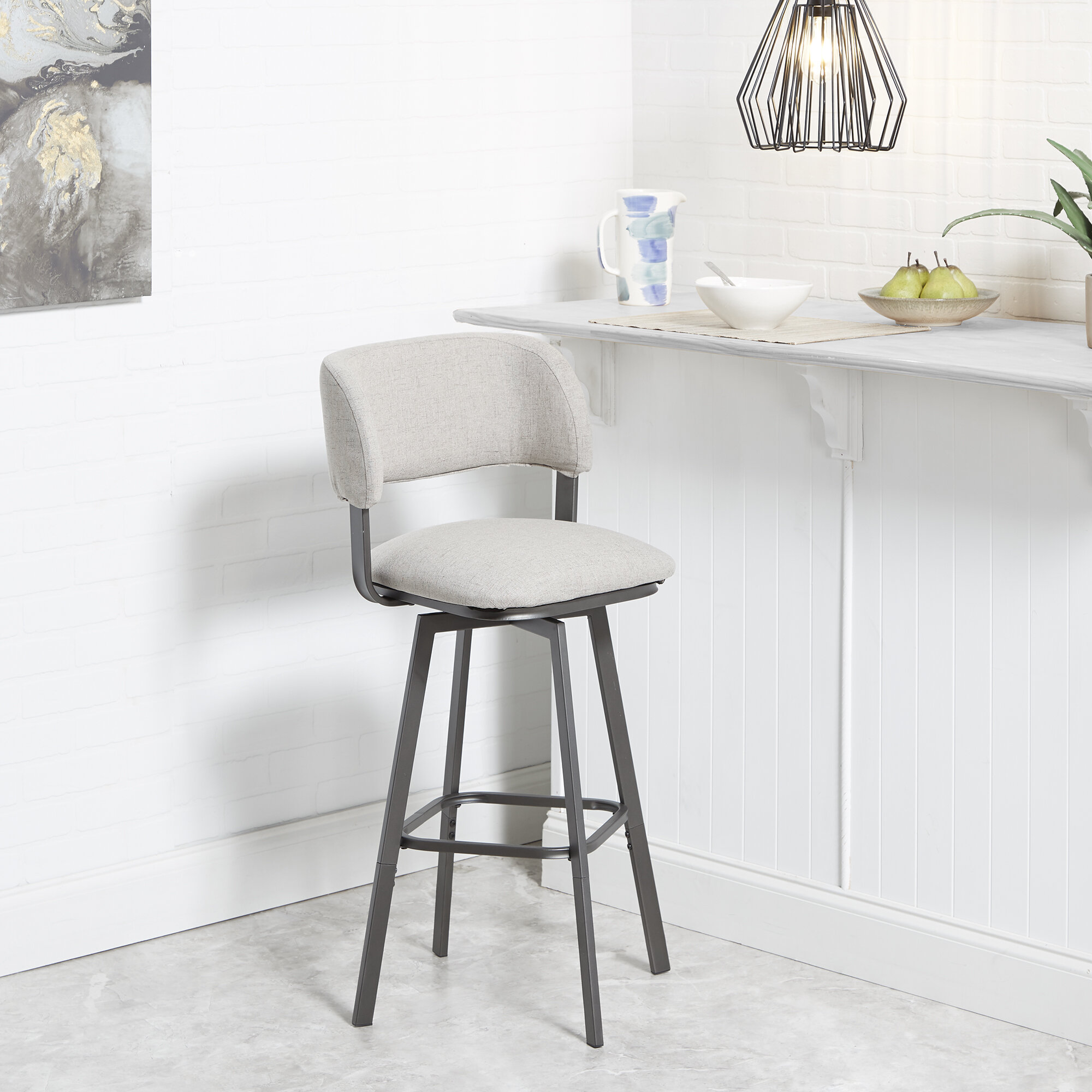 Astounding Ebern Designs Alydar Adjustable Height Swivel Bar Stool Gmtry Best Dining Table And Chair Ideas Images Gmtryco