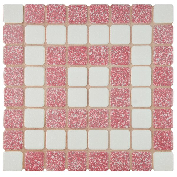 Minerva 1.3 x 1.3 Porcelain Mosaic Tile in Flamingo by EliteTile