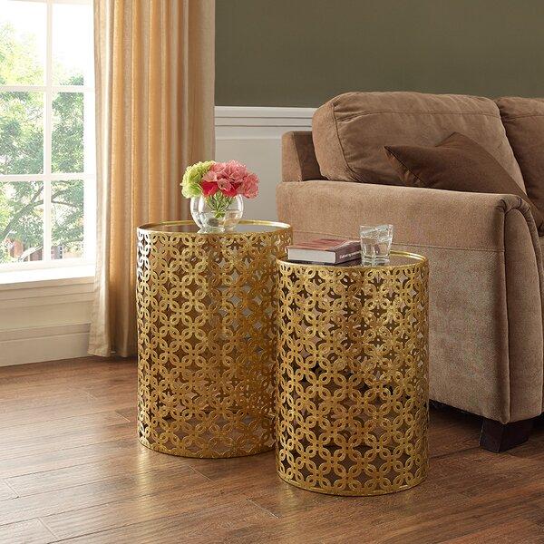 Deals Price Kessel 2 Piece Drum Nesting Tables