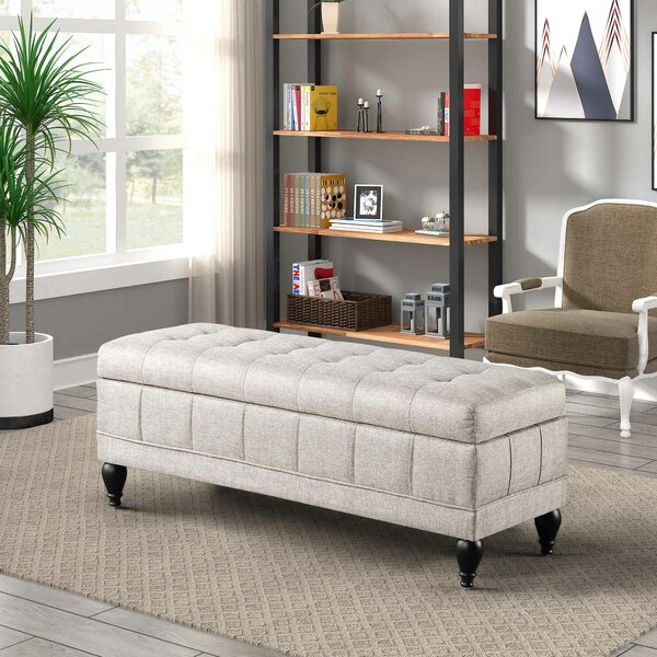 Steffey Upholstered Flip Top Storage Bench by Darby Home Co