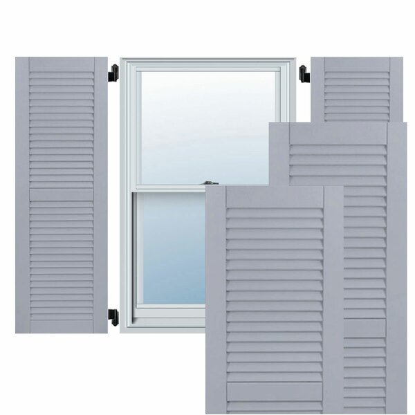 Exterior Composite Wood Louvered Shutter (Set of 2