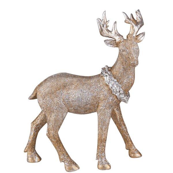 Desmond Large Resin Glitter Reindeer Figurine by T