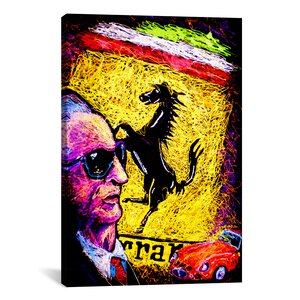 Enzo Ferrari Emblem by Rock Demarco Painting Print on Wrapped Canvas by iCanvas