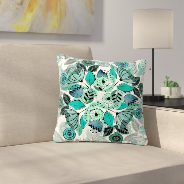 Famenxt Sognare Abstract Outdoor Throw Pillow by East Urban Home