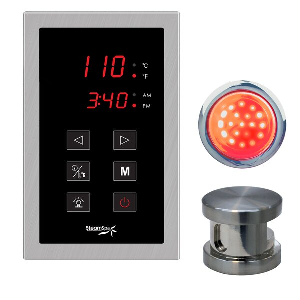 SteamSpa Indulgence Touch Panel Control Kit by Steam Spa
