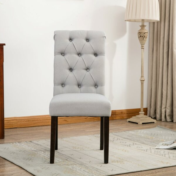 Alarik Button Tufted Upholstered Dining Chair (Set of 2) by House of Hampton