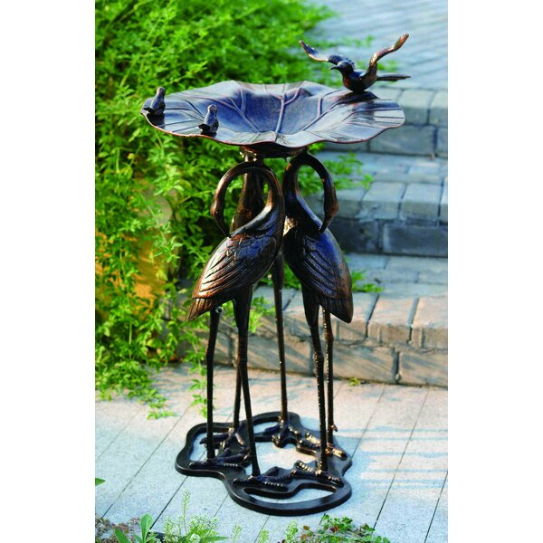 Three Crane Birdbath by Pier Surplus