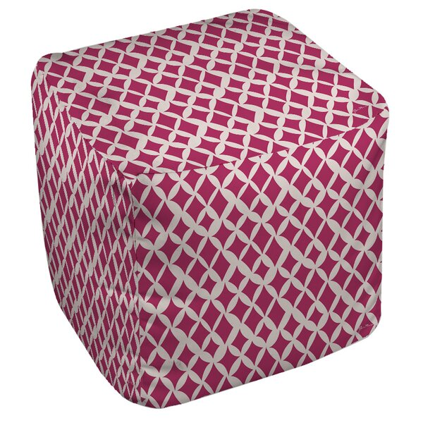 Banias Diamond Pouf by Manual Woodworkers & Weavers
