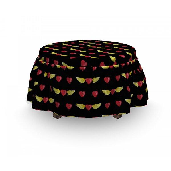 Love Art Heart On Dark Ottoman Slipcover (Set Of 2) By East Urban Home