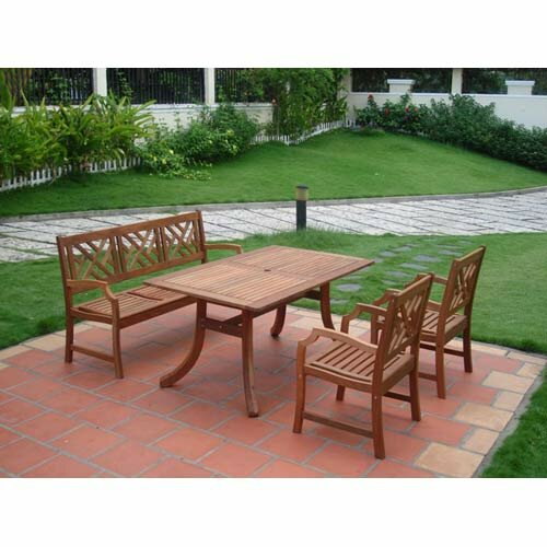Amabel 4 Piece Dining Set by Beachcrest Home