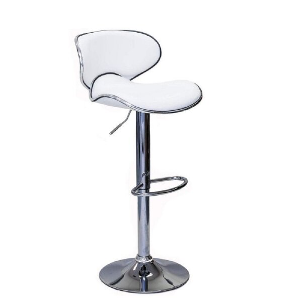 Carramar Swivel Adjustable Height Bar Stool (Set of 2) by Orren Ellis Orren Ellis