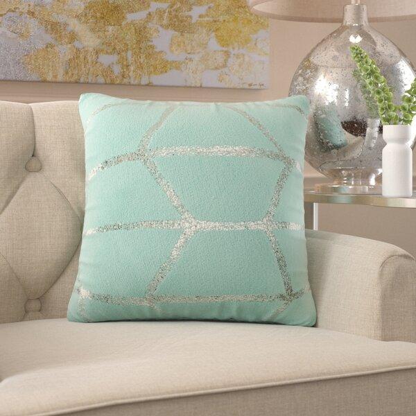 Mangesh Metallic Print Throw Pillow by Willa Arlo Interiors