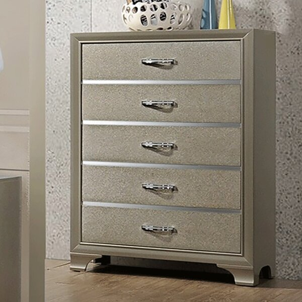 Plumlee Wooden 5 Drawer Chest by House of Hampton