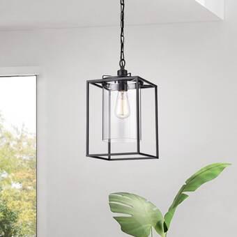 Gracie Oaks Zhu 3 Light Lantern Rectangle Pendant Reviews Wayfair