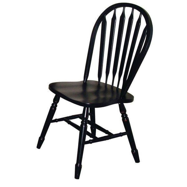 Lockwood Arrow Back Solid Wood Dining Chair (Set Of 2) By Loon Peak Loon Peak