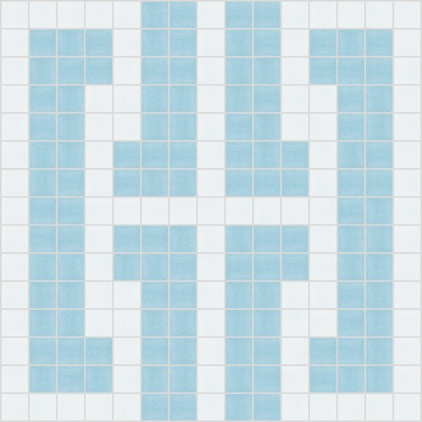 Urban Essentials Bold Chain 3/4 x 3/4 Glass Glossy Mosaic in Breeze Blue by Mosaic Loft
