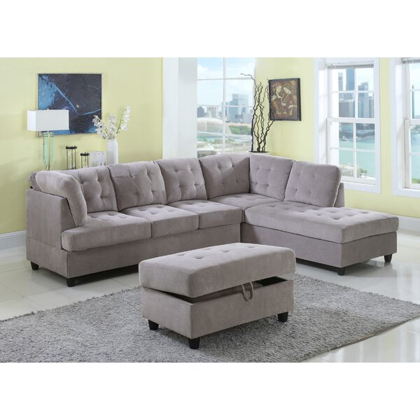 Farley Sectional with Ottoman by Red Barrel Studio