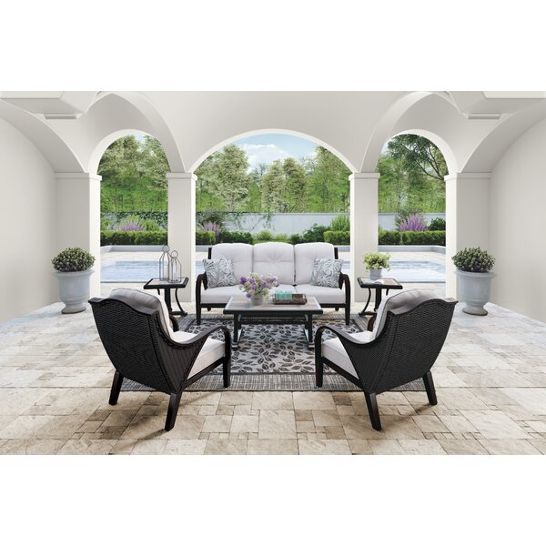 Kohn Deep Seating Group with Cushions by Bayou Breeze