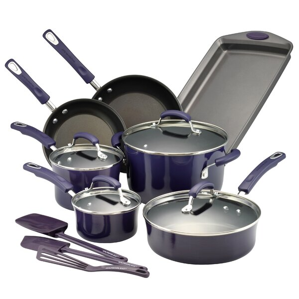 14 Piece Nonstick Cookware Set By Rachael Ray.