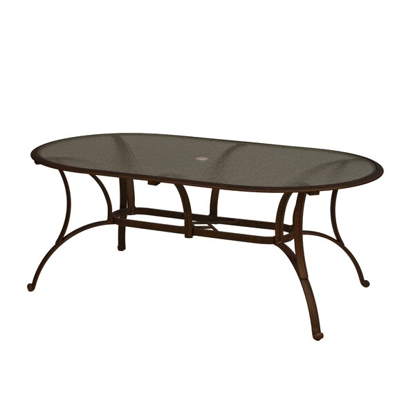 Massimo Glass Dining Table by Winston Porter