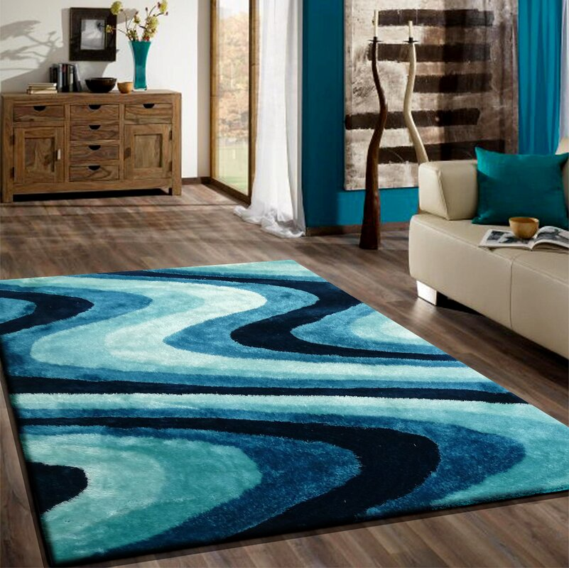 Rug Factory Plus Living Shag Shades Of Turquoise Reviews