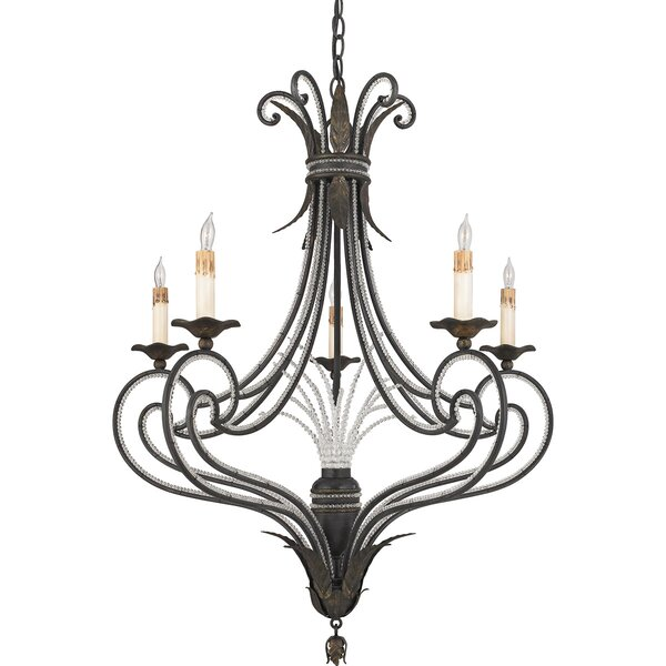 Katelynn 5 - Light Candle Style Empire Chandelier by Bay Isle Home Bay Isle Home