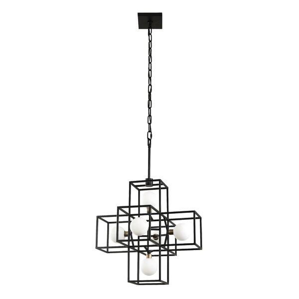 ConCourse 6 - Light Unique / Statement Rectangle / Square Chandelier with Crystal Accents by Williston Forge Williston Forge