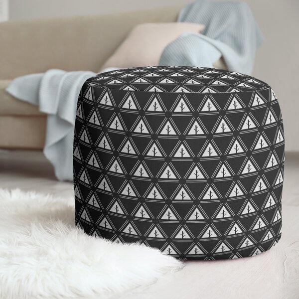Two Color Minimalist Trees Pouf by East Urban Home