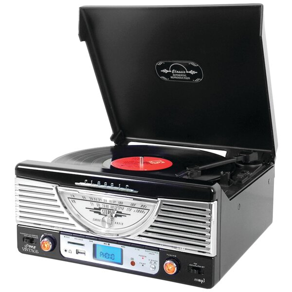 Bluetooth Retro Vintage Classic Style Turntable by