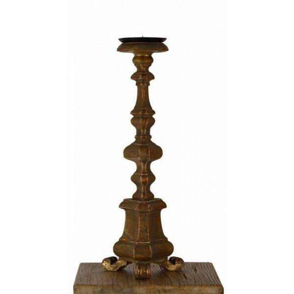 Wood Candlestick by Fleur De Lis Living