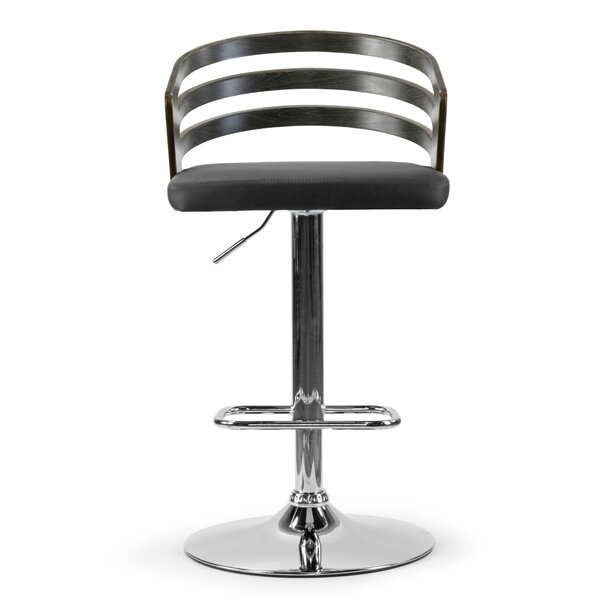 Engler Adjustable Height Swivel Bar Stool by Wrought Studio