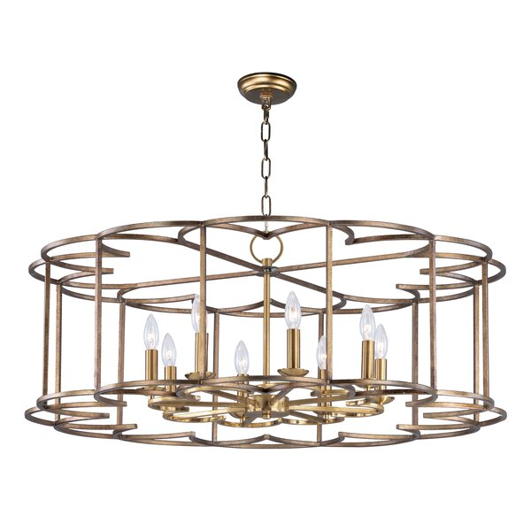 Delana 8 - Light Candle Style Drum Chandelier By Rosdorf Park